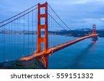 Golden Gate Bridge At Dusk   A...