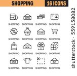 shopping flat icon set.... | Shutterstock .eps vector #559158082