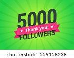 5000 followers. greeting card... | Shutterstock .eps vector #559158238