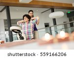 man getting mobile chair... | Shutterstock . vector #559166206