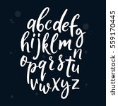 vector handwritten brush script ... | Shutterstock .eps vector #559170445