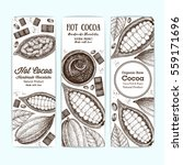 banner set for cocoa shop.... | Shutterstock .eps vector #559171696