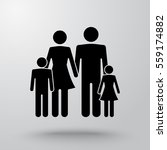 family sign icon  vector... | Shutterstock .eps vector #559174882