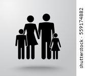 family sign icon  vector... | Shutterstock .eps vector #559174882