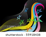 Black Abstract Background With...