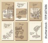 vector set  honey backgrounds... | Shutterstock .eps vector #559187686