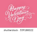 happy valentine day lettering... | Shutterstock .eps vector #559188322