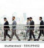 walking business people city... | Shutterstock . vector #559199452