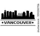 vancouver skyline silhouette  | Shutterstock .eps vector #559200706
