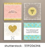 wedding invitation card or... | Shutterstock .eps vector #559206346