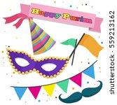 happy purim  collection of... | Shutterstock .eps vector #559213162