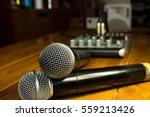 two wireless microphones  dj... | Shutterstock . vector #559213426