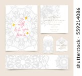 wedding invitation card or... | Shutterstock .eps vector #559214086