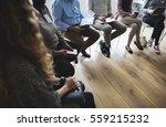 people meeting seminar office... | Shutterstock . vector #559215232