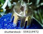 christmas blue ball on the... | Shutterstock . vector #559219972