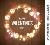 happy valentine's day vector...   Shutterstock .eps vector #559223305