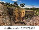 ethiopia  lalibela. monolithic... | Shutterstock . vector #559224598