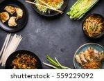 chinese food dark background.... | Shutterstock . vector #559229092