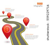 road infographic with red... | Shutterstock .eps vector #559229716