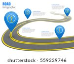 road infographic with blue... | Shutterstock .eps vector #559229746