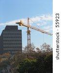 highrise construction crane... | Shutterstock . vector #55923