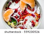 salad with fresh vegetables ... | Shutterstock . vector #559230526