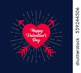 saint valentines day rough... | Shutterstock .eps vector #559244506