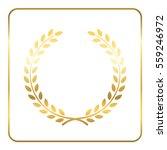 gold laurel wreath. symbol of... | Shutterstock . vector #559246972