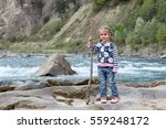 pretty small girl with two...   Shutterstock . vector #559248172