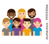 diverse group of people ... | Shutterstock .eps vector #559255066