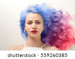 trendy hairstyle concept. young ... | Shutterstock . vector #559260385