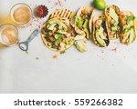 healthy corn tortillas with... | Shutterstock . vector #559266382