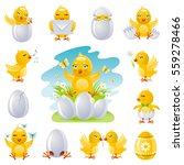 Happy Easter Spring Icon Set....