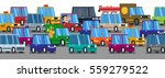 road traffic in city with a lot ... | Shutterstock .eps vector #559279522
