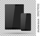 modern digital tablet pc with... | Shutterstock .eps vector #559279552