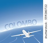 colombo flight destination | Shutterstock .eps vector #559280722