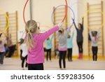 children gymnastics. children's ... | Shutterstock . vector #559283506
