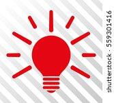 red light bulb interface... | Shutterstock .eps vector #559301416