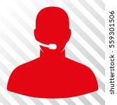 red call center operator... | Shutterstock .eps vector #559301506