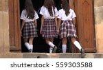 Catholic School Girls Enter An...
