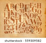 vintage gothic font in retro... | Shutterstock .eps vector #559309582