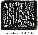 vintage gothic font in retro... | Shutterstock .eps vector #559309585