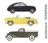Retro Car Vector Illustration.
