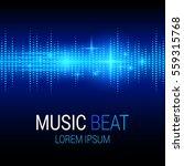 music beat. blue lights... | Shutterstock .eps vector #559315768