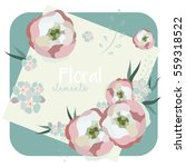 collection of vintage floral...   Shutterstock .eps vector #559318522
