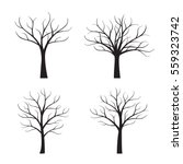 set black trees without leafs.... | Shutterstock .eps vector #559323742