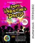 vector valentine's day party... | Shutterstock .eps vector #559341802