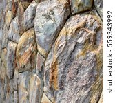 brown stone wall texture and... | Shutterstock . vector #559343992