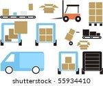 delivering set | Shutterstock .eps vector #55934410