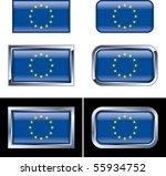 european union flag buttons | Shutterstock .eps vector #55934752